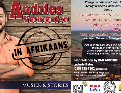 Andries Vermeulen live in concert on 17 November 2017